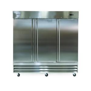 Norpole 81 inch W 72 cu. ft. 3-Door Commercial Refrigerator in Stainless Steel by Norpole
