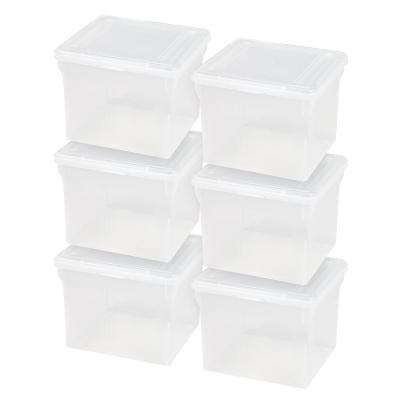 29 Qt. Letter Size File Storage Box in Clear (Pack of 6)