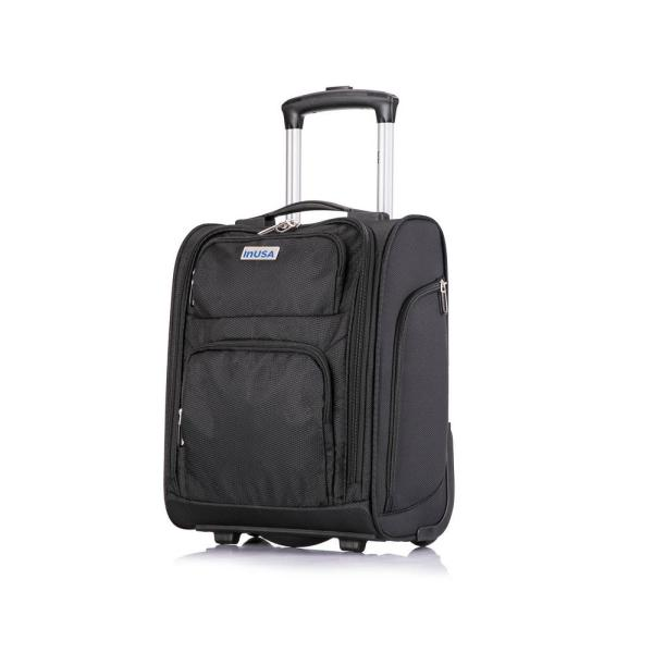 InUSA Underseater 15 in. Black Wheeled Ultralight Carry on