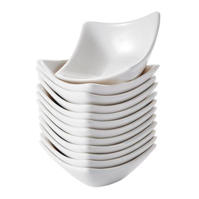 3 in. White Ceramic Ramekins Souffle Dishes Serving Bowls (Set of 12)
