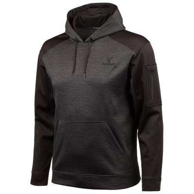 HUNTWORTH Men's 2X-Large Heather Black / Black Hoodie