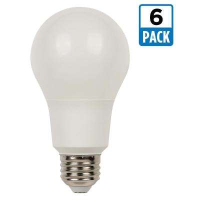 75W Equivalent Bright White Omni A21 Dimmable LED Light Bulb (6-Pack)