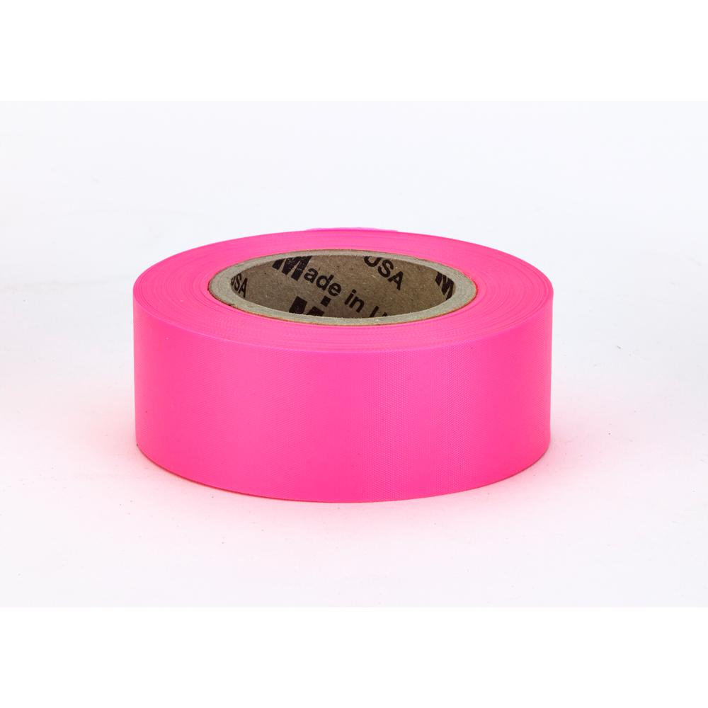 1-3/16 in. x150 ft. Glo-Pink Surveyor Grade ULTRA Flagging Tape (Pack
