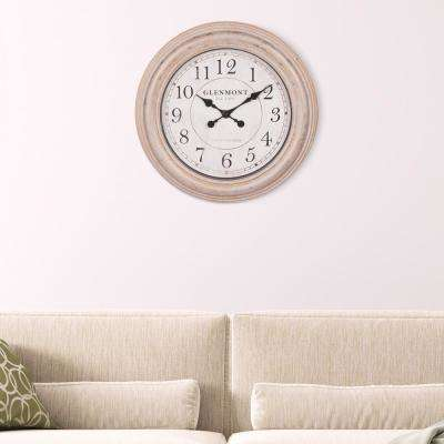Distressed Champagne Brown Wall Clock