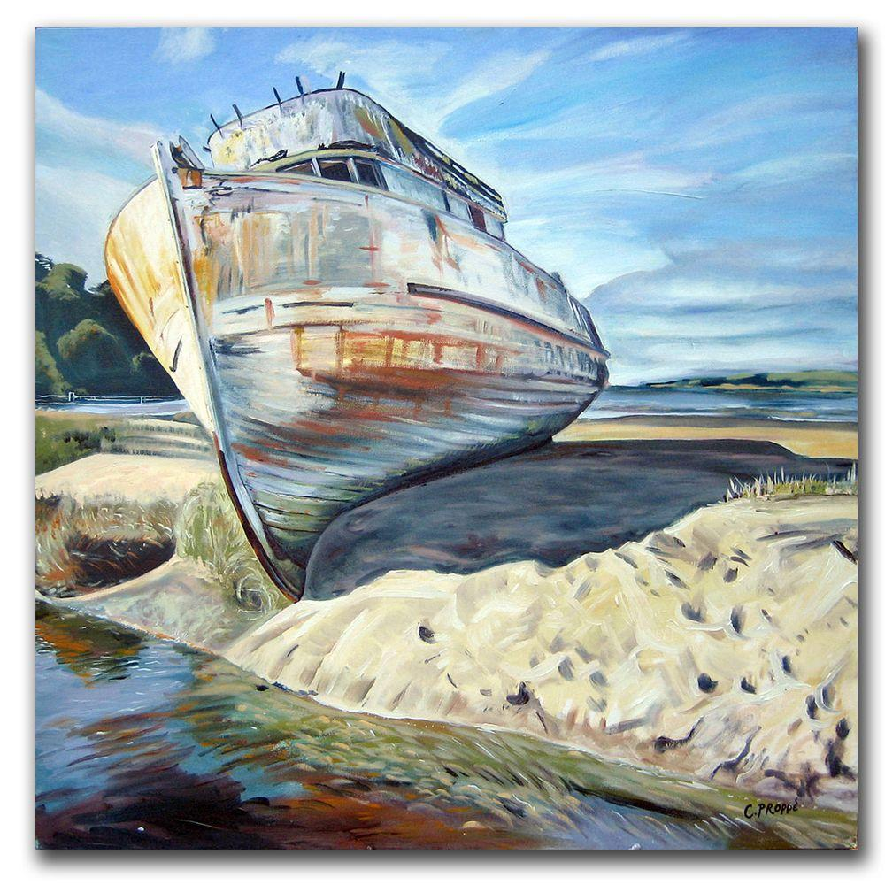 null 35 in. x 35 in. Inverness Boat Canvas Art