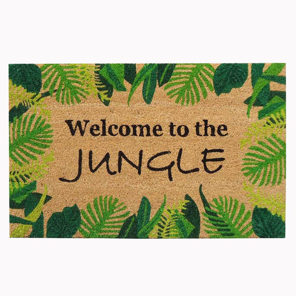 Nedia Home 18 in. x 30 in. Welcome to The Jungle Super Scraper Door Mat