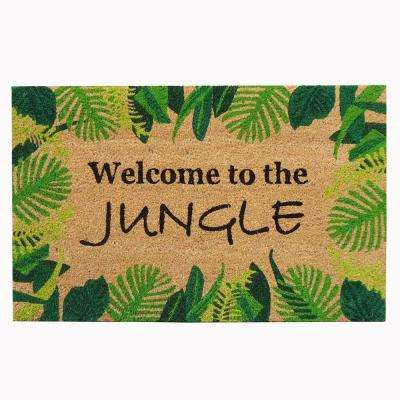 18 in. x 30 in. Welcome to The Jungle Super Scraper Door Mat