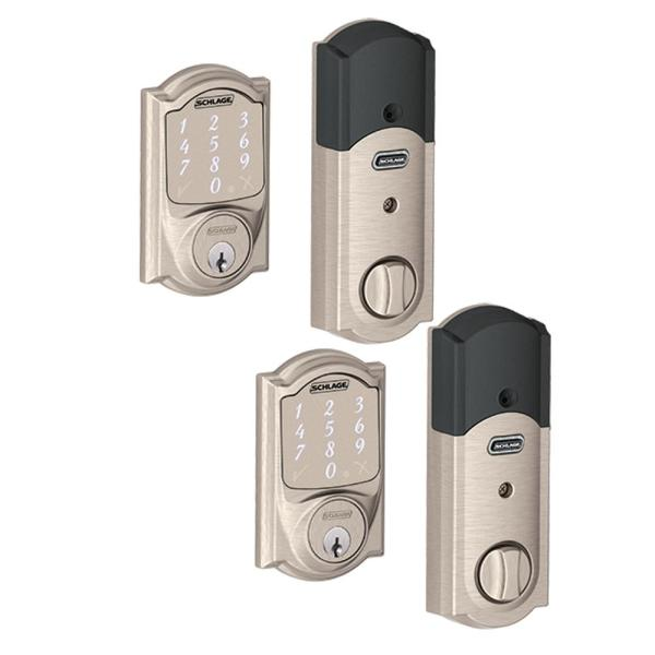 Camelot Satin Nickel Sense Smart Door Lock (2-Pack)