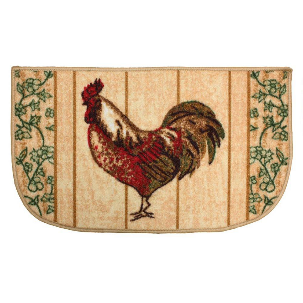 Rooster Multi Color 18 In X 30 Indoor Mat