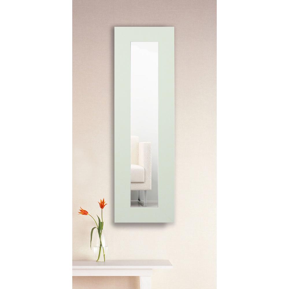 35.5 in. x 9.5 in. Delta White Panel Vanity Mirror