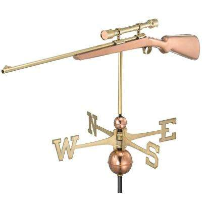 Rifle with Scope Weathervane - Pure Copper