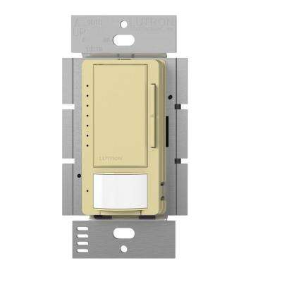 Maestro C.L Dimmer and Vacancy Motion Sensor, Single Pole and Multi-Location, Ivory