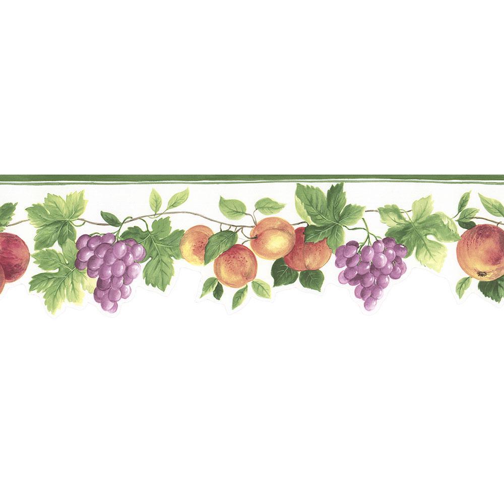 Norwall Hybrid Fruit Wallpaper Border Kt77917dc The Home Depot