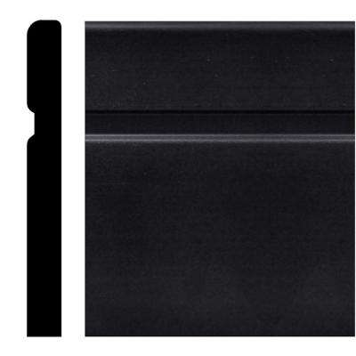 236PL - 5/8 in. x 6 in. x 96 in. Black Plastic Duro Base Moulding