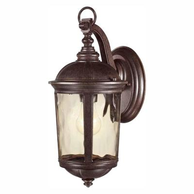 Leeds Mystic Bronze Outdoor Wall Lantern Sconce