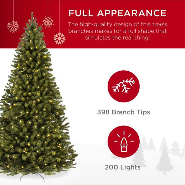 Best Choice Products 4 5 Ft Pre Lit Incandescent Spruce Artificial Christmas Tree With 200 Warm White Lights Sky5027 The Home Depot