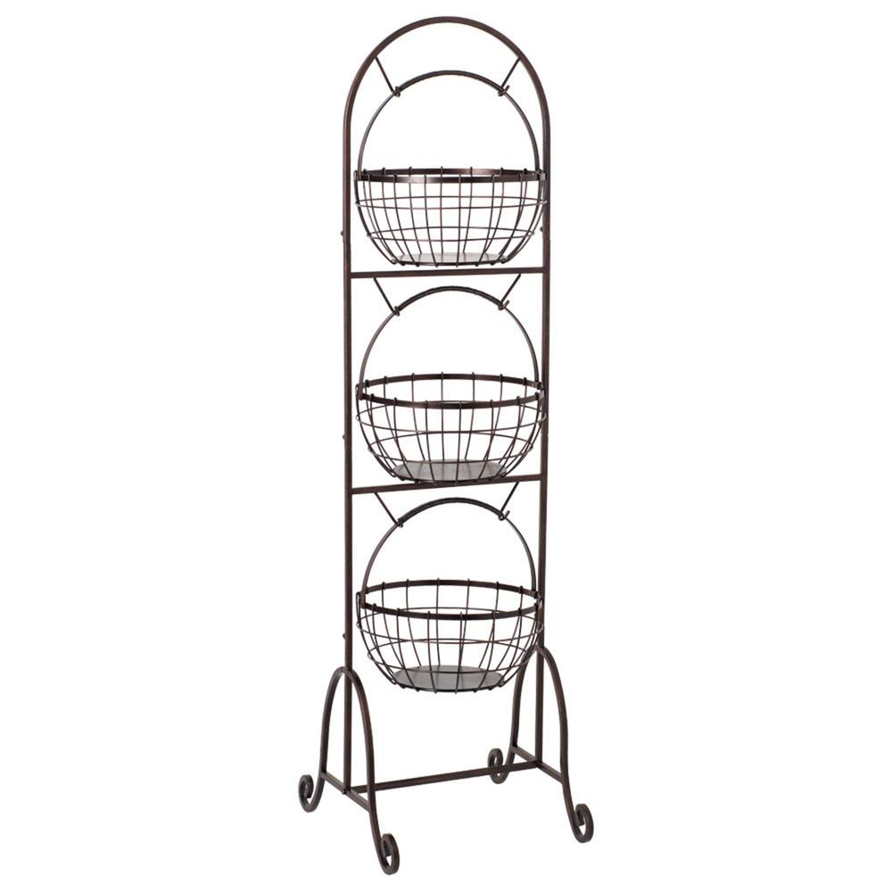 3-Tier Wire Market Basket