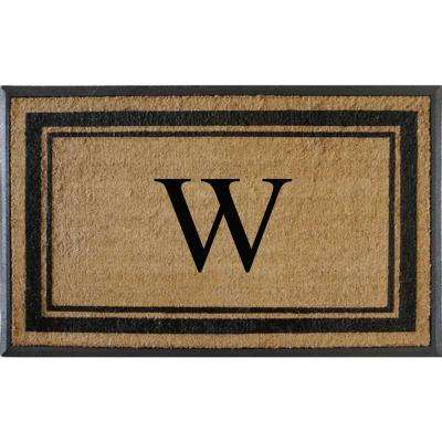A1HC First Impression Markham Border 30 in. x 48 in. Coir Double Monogrammed W Door Mat