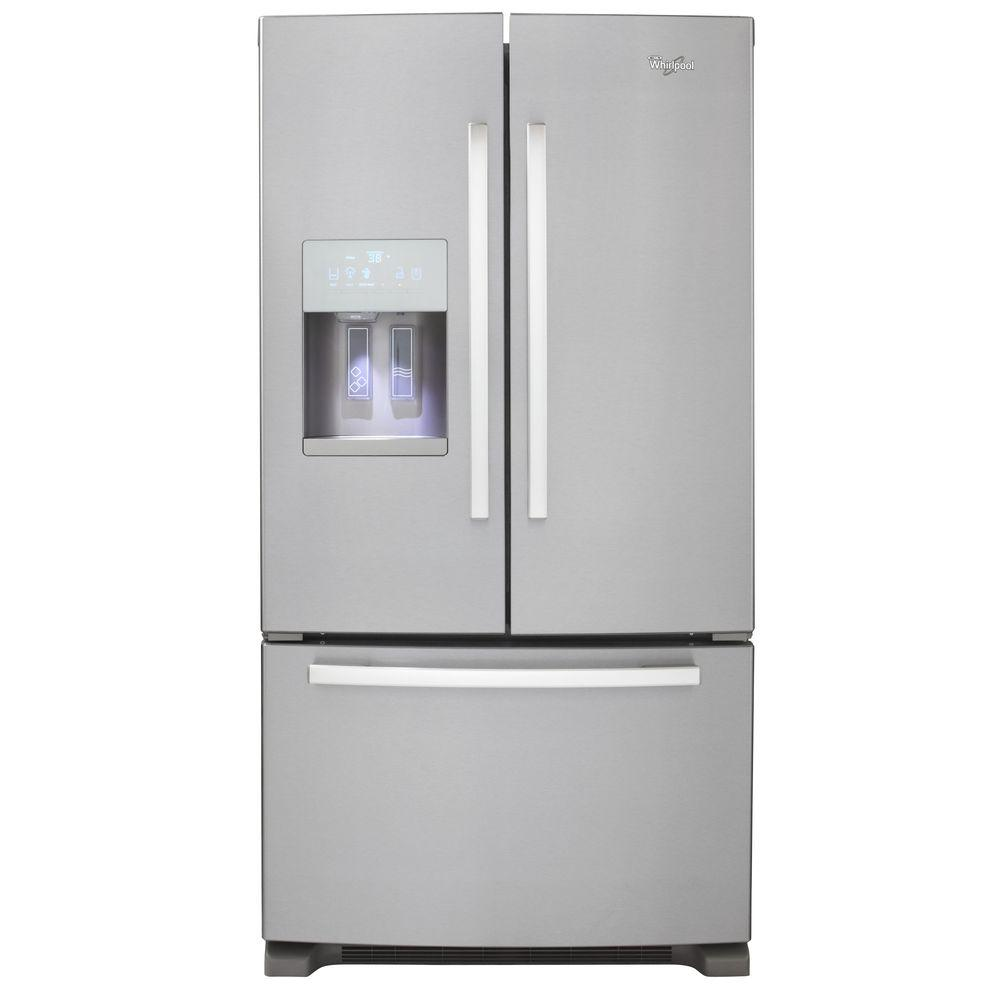 Whirlpool Gold 25.6 cu. ft. French Door Refrigerator in Monochromatic Satina Steel-DISCONTINUED