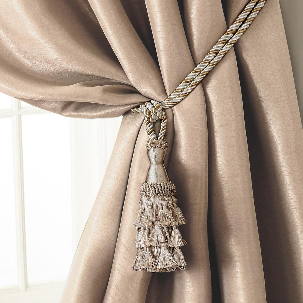 Tel Tieback Rope Cord Window Curtain Accessories In Ivory
