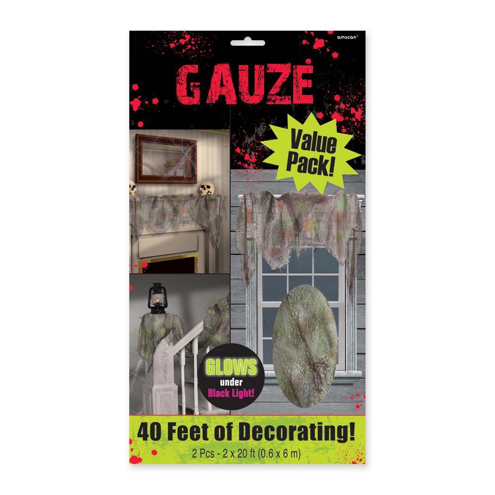 20 ft. x 2 ft. Halloween Gray Gauze (2-Count )