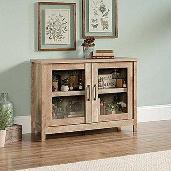 SAUDER Cannery Bridge Lintel Oak Storage Cabinet 420334