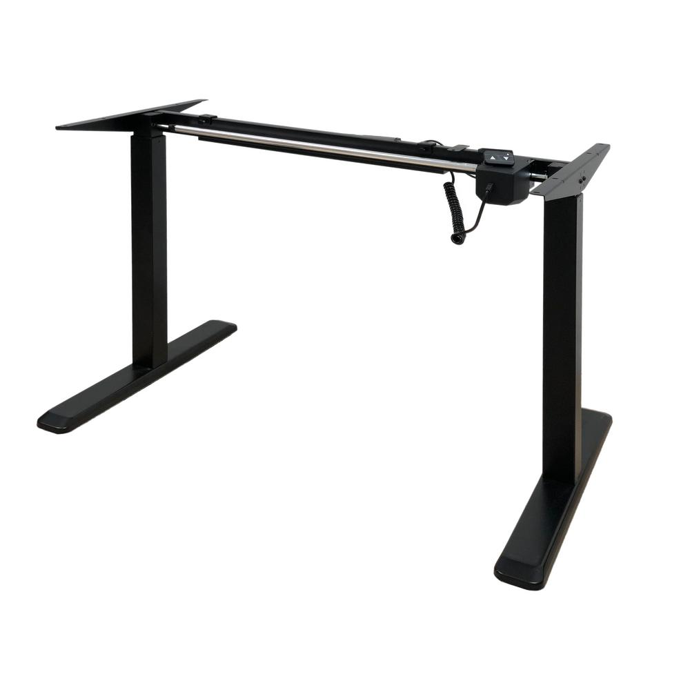 Black Electric Height Adjustable Desk Frame With Single Motor (Tabletop Not
