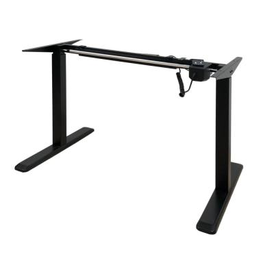 Black Electric Height Adjustable Desk Frame With Single Motor (Tabletop Not Included)