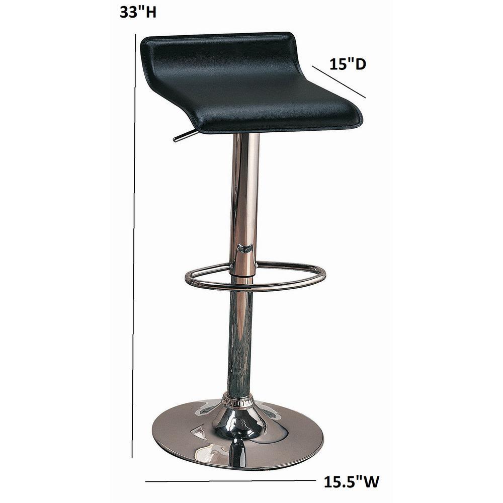 29 Adjustable Bar Stool Chrome and Brown