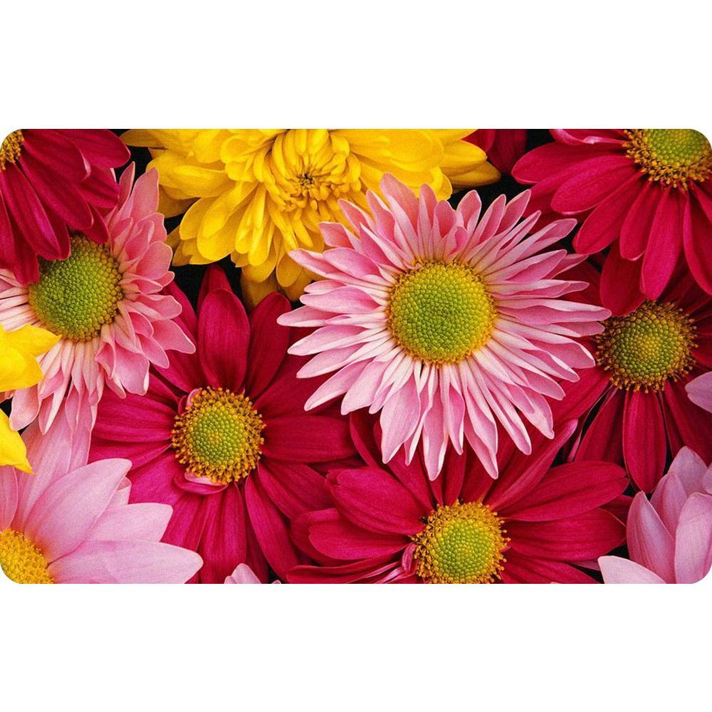 Bungalow Flooring Multi Color 23 in. x 36 in. Neoprene Big Bloom ...