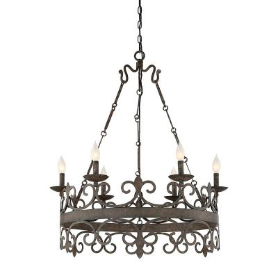 6-Light Fieldstone Chandelier