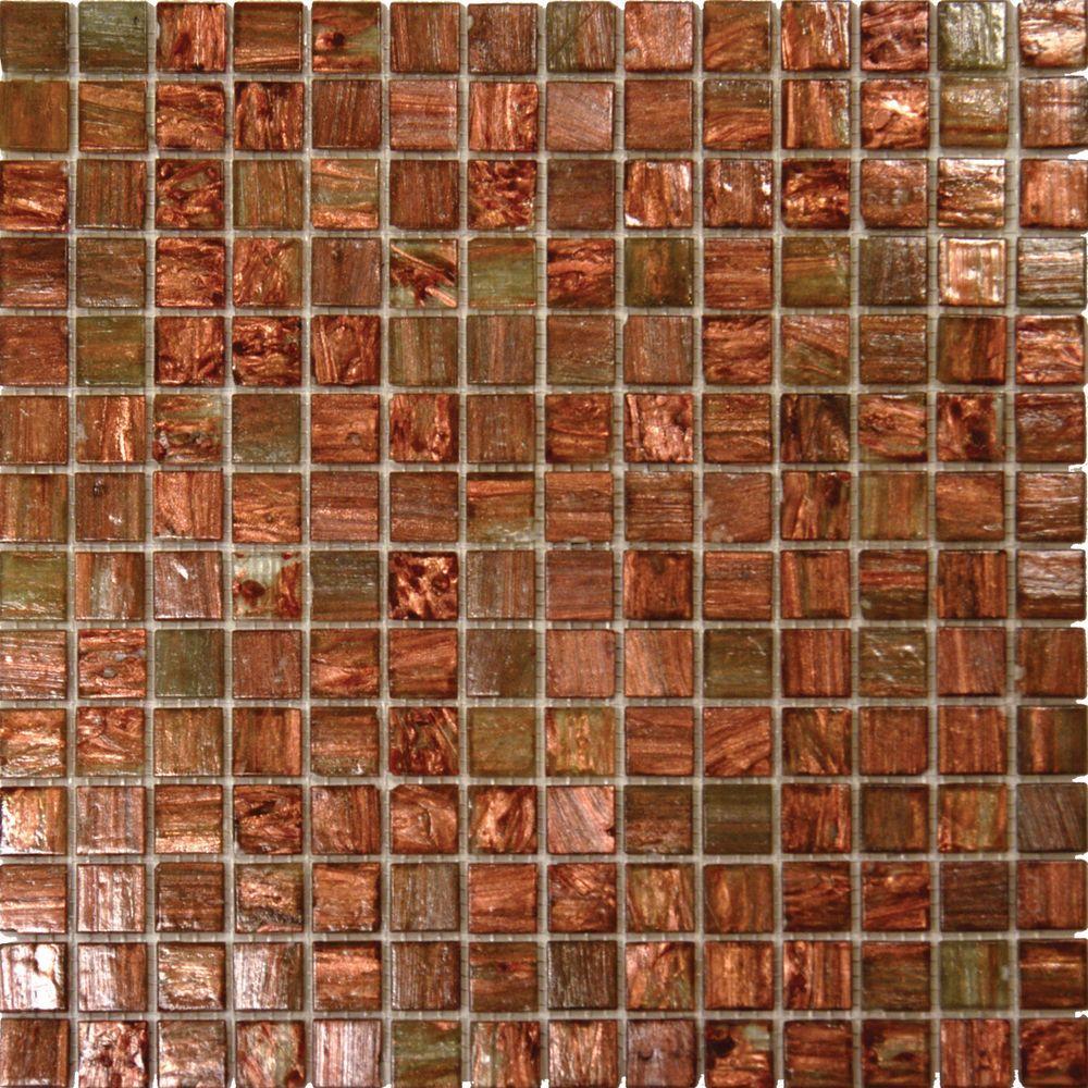 Msi Light Brown Iridescent 12 In X 4 Mm Gl Mesh