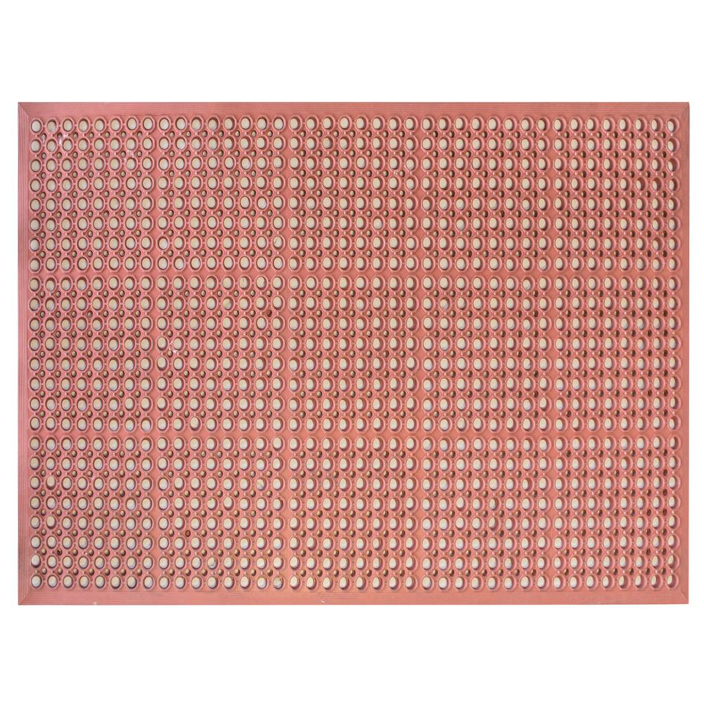 Buffalo Tools Indoor/Outdoor Durable Anti-Fatigue 36 in. x 60 in. Industrial Commercial Home Restaurant Bar Rubber Floor Mat in Red, Red Industrial was $74.04 now $39.99 (46.0% off)