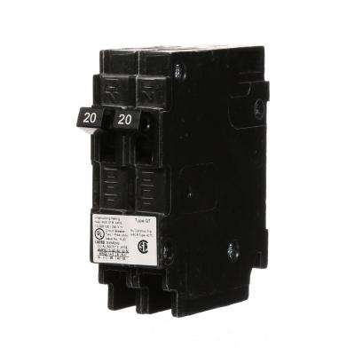 (2) 20 Amp Tandem Single Pole Type QT NCL-Circuit Breaker