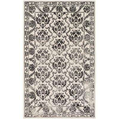Organic Aubrey Onyx Black 8 ft. x 10 ft. Indoor Area Rug