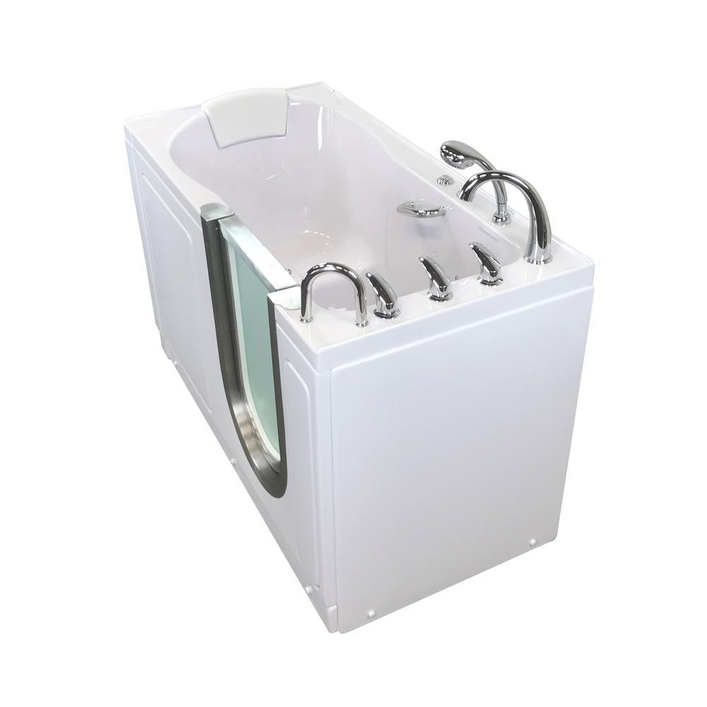 Ella Deluxe 55 in. Acrylic Walk-In Air Bath and Micro Bubble Bathtub ...