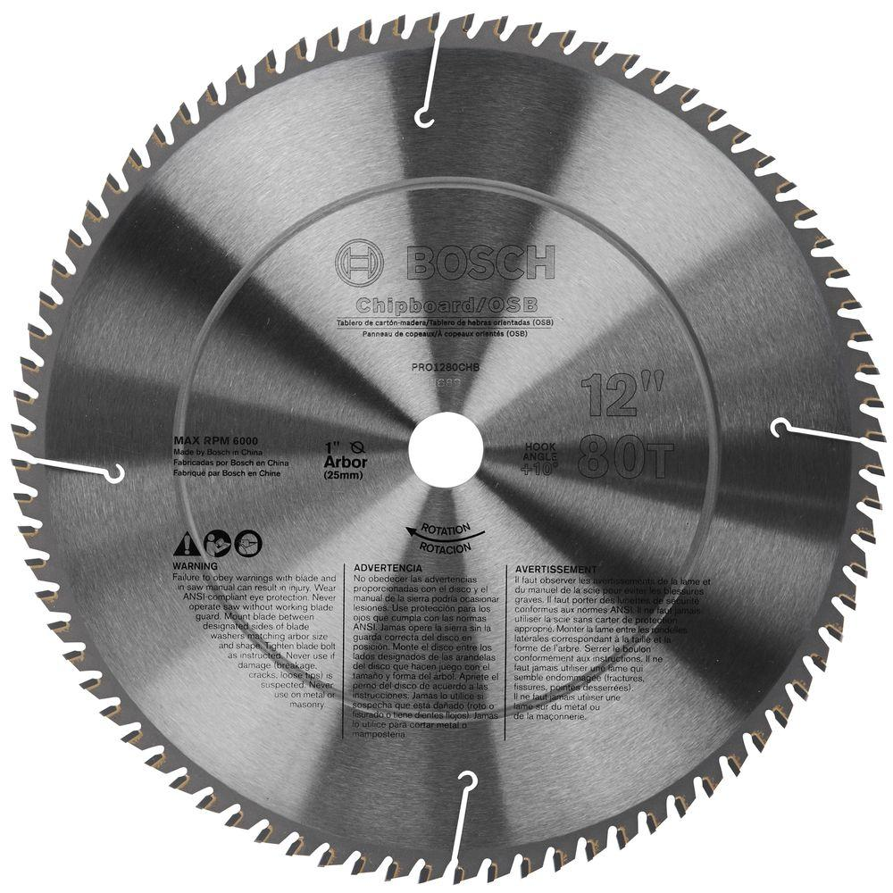 Bosch 12 in. Chipboard/OSB Woodworking Blade (Box)