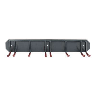 Wall Mounted Ski Rack Storage Organizer for Skis and Poles Heavy-Duty Metal Frame