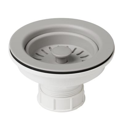 4-1/2 in. Kitchen Sink Strainer in Grey