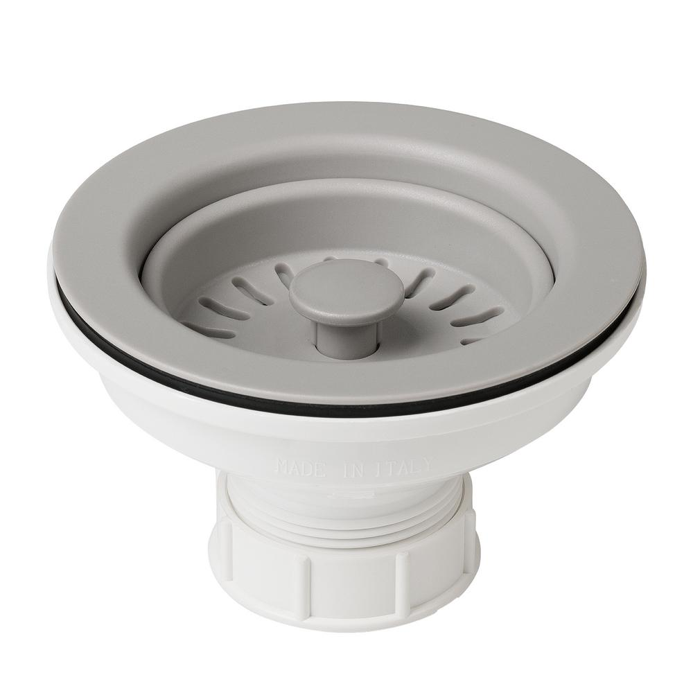 Kitchen Sink Keeps Backing Up: KRAUS 4-1/2 In. Kitchen Sink Strainer In Grey-PST1-GR