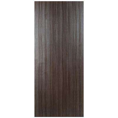 door slab interior walnut custom core wood solid veneer dark pin finish single with
