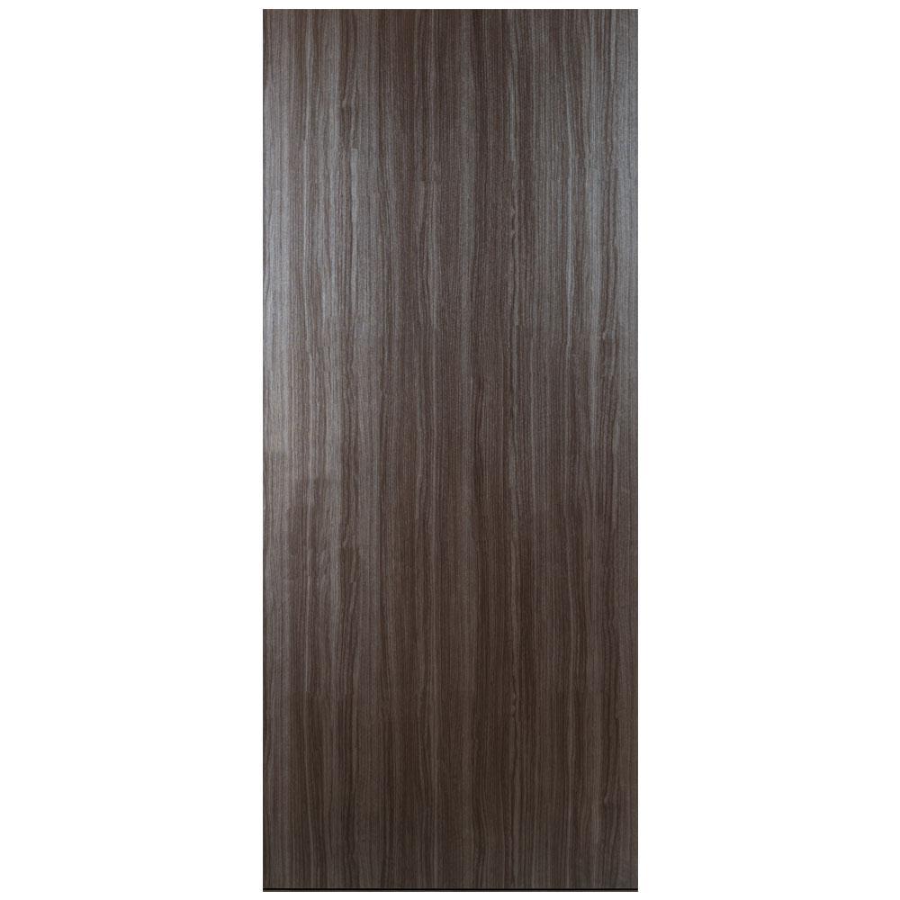 32 in. x 80 in. Grey Wood Finished Solid Core Composite Interior Door Slab