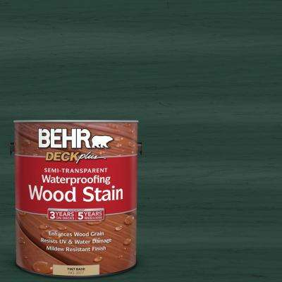 1 gal. #ST-114 Mountain Spruce Semi-Transparent Waterproofing Wood Stain