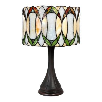 22 in Tiffany Style Contemporary Drum Table Lamp