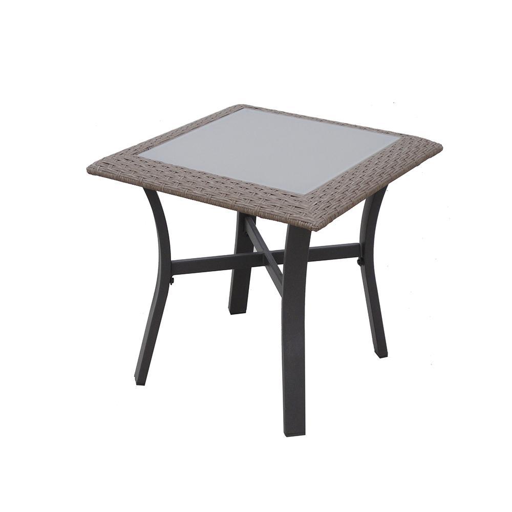 corranade metal outdoor accent table