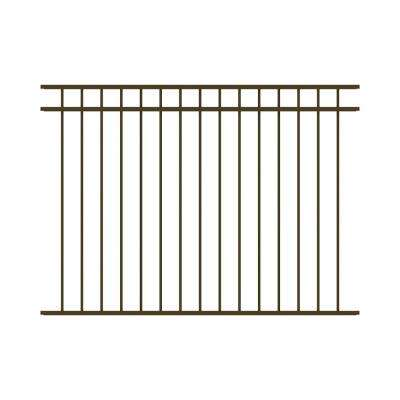 Vinings 4.5 ft. H x 6 ft. W Bronze Aluminum Pre-Assembled Fence Panel
