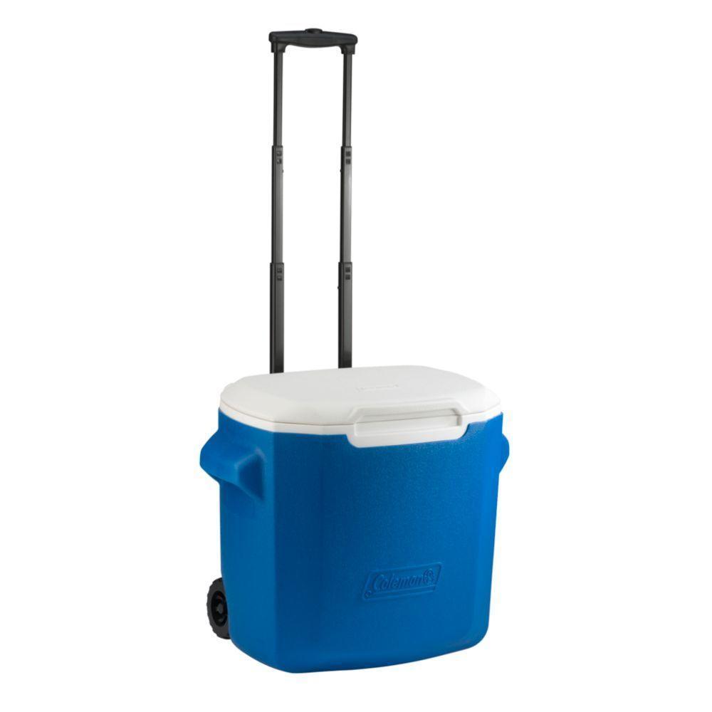 16 Qt  Wheeled Cooler, Blue