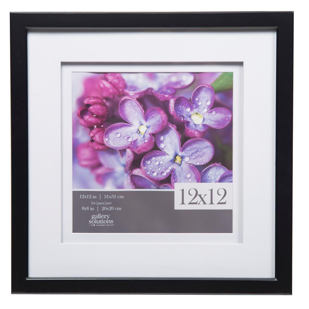 Pinnacle Gallery 8 In X 8 In Black Double Mat Picture Frame