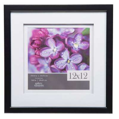 Gallery 8 in. x 8 in. Black Double Mat Picture Frame