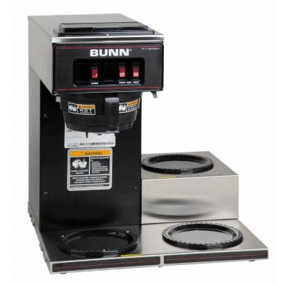 VP17 Low Profile 192 oz. Commercial Coffee Brewer with 3 Lower Warmers in Black